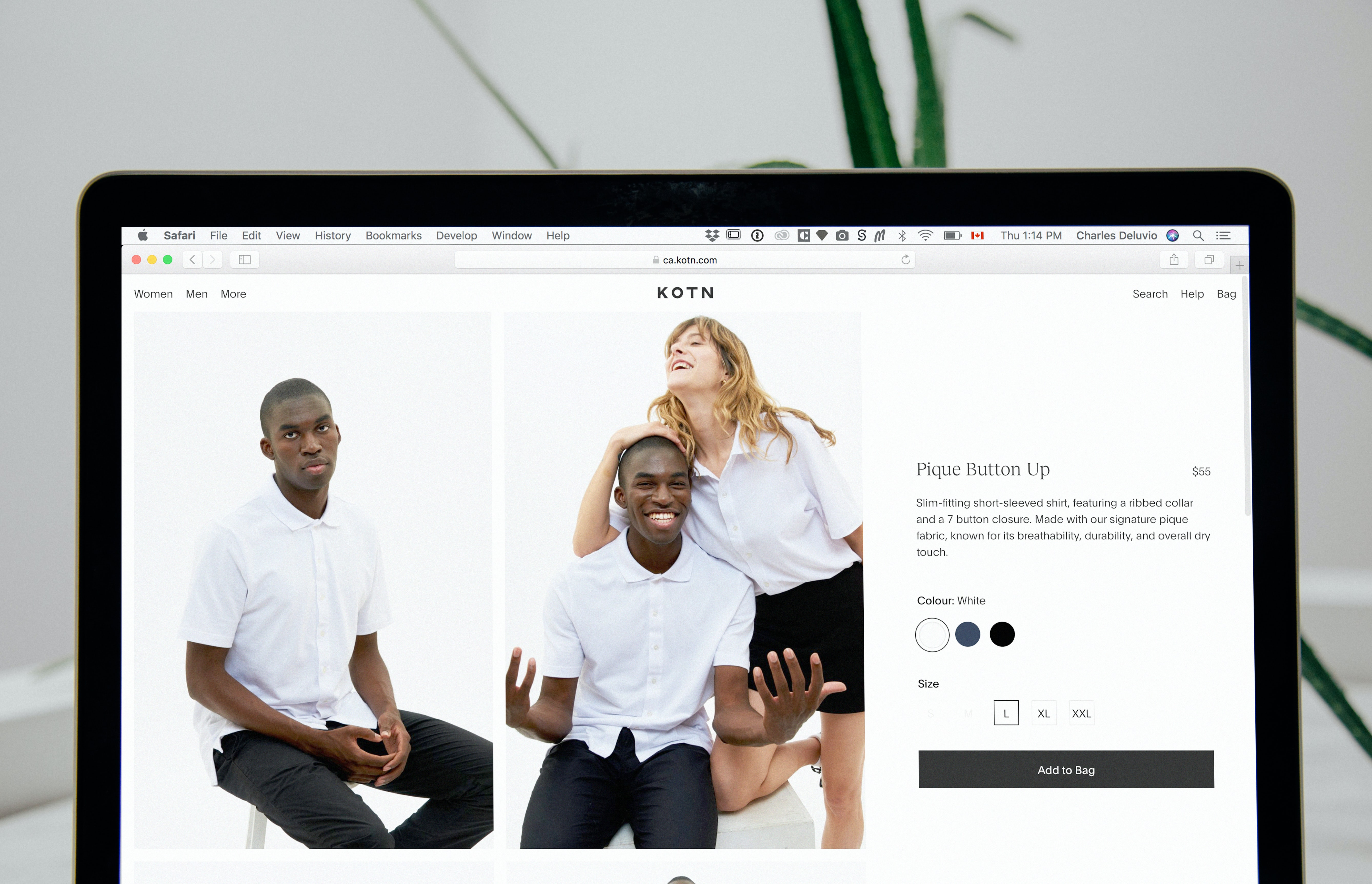 Product page content