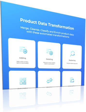 Examples of product data transformation